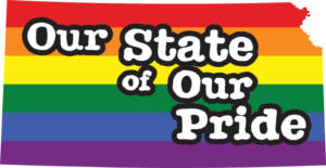 Kansas gay pride vector state sign