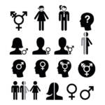 gender dysphoria concept icons