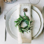 Table setting with wreath