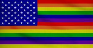 stars and rainbow stripes
