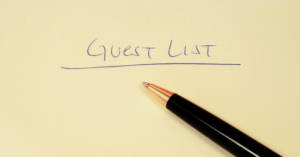 Guest list being created