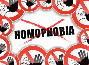 no homophobia abstract concept
