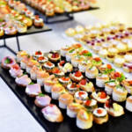 hors d'oeuvres on trays