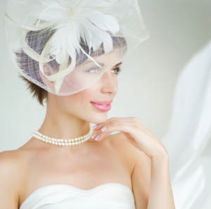 woman wearing bridal veil
