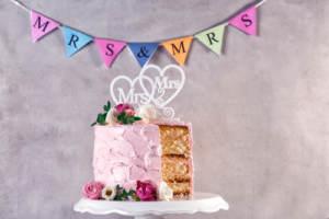 An LGBTQ wedding cake