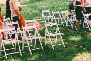 Wedding lawn chairs to match your guest count