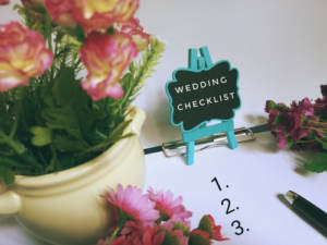 A small checklist for planning your wedding